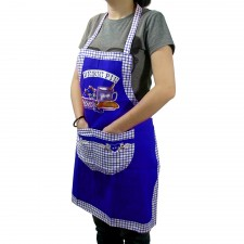 Canvas Apron with Pocket - Blue