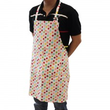 Cotton Apron with Double Pockets - Design A