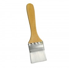 Flat Nylon Pastry Brush with Wooden Handle - 1.5 inch