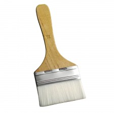 Flat Nylon Pastry Brush with Wooden Handle - 3.0 inch