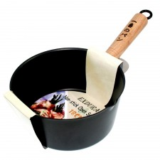 Sauce Pan Non-Stick with Wooden Handle - 18cm