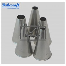 BAKECRAFT Round Pastry Tubes Decorating Nozzle