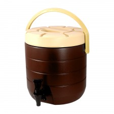 HOMSUIT Insulated Beverage Dispenser Bucket Stainless Steel 13L - Brown