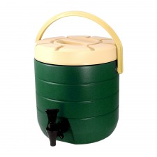 HOMSUIT Insulated Beverage Dispenser Bucket Stainless Steel 13L - Green