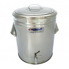 HOMSUIT Insulated Beverage Dispenser Bucket Stainless Steel - 27L