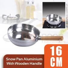 Snow Pan Aluminium With Wooden Handle - 16cm