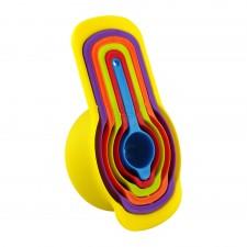 Colourful Plastic Measuring Spoon 6-pcs Set - A [M-P6]