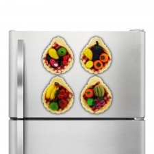 4 Piece Set Fridge Magnet Fruits Design [MH710]