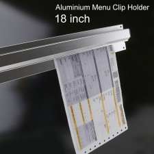 BIGSPOON Aluminium Menu Receipt Clip Check Holder 18 inch 45cm Ticket Bill Hanger Slide Hanging Rack for Restaurant Bar Kitchen