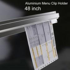 BIGSPOON Aluminium Menu Receipt Clip Check Holder 48 inch 120cm Ticket Bill Hanger Slide Hanging Rack for Restaurant Bar Kitchen