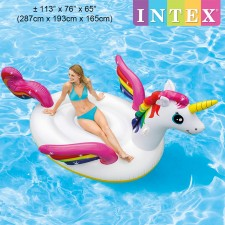 INTEX 287cm Mega Unicorn Island Ride-On Inflatable Float Model 57281