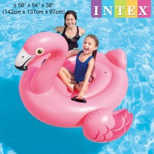 INTEX 142cm Flamingo Ride-On Inflatable Float Model 57558